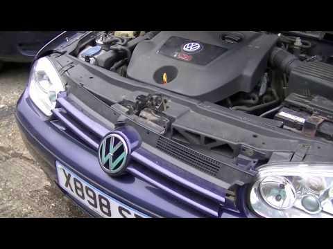 Снятие переднего бампера Golf 4