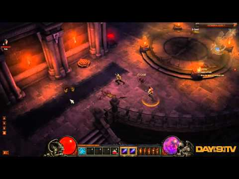 Diablo 3 Beta Wizard Gameplay with Funny Commentary by Day[9] P1