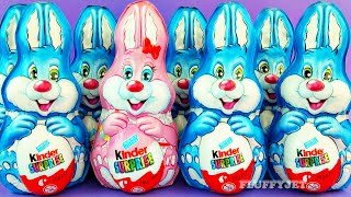 getlinkyoutube.com-8 Easter Kinder Surprise Bunny Rabbit Army Surprise Toys Unboxing Easter Egg Chocolate
