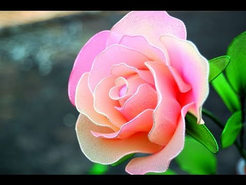 How To Make a Rose from Nylon Stocking - DIY Wedding Idea,   Mother's Day Gift Idea