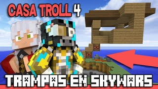 getlinkyoutube.com-TRAMPA SKYWARS | CASA TROLL CON PUENTE DE TNT | FULL DIAMANTE