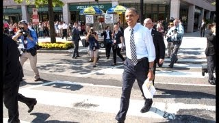 getlinkyoutube.com-President Obama Walks The Streets Of Washington