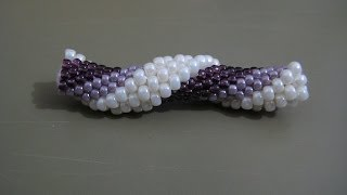 getlinkyoutube.com-Tutorial : tubolare crochet con perline rocailles 11/0 e 8/0 - 1^parte