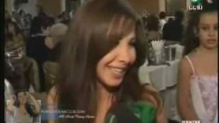 getlinkyoutube.com-Nancy Ajram- Nancy In Wedding- Akher El Akhbar- Interview- (Rotana)