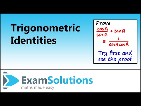 Trigonometry : Proving trig Identities (example 3) : ExamSolutions