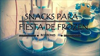 getlinkyoutube.com-Mesa de dulces para fiesta de FROZEN // bombones azucarados
