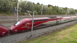 getlinkyoutube.com-Compilation Thalys drive by only, different speeds ;-), 4 october 2013. Belgium