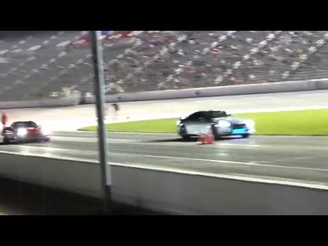 Silver GTR vs Red Vette Friday Night Drags TMS 7-11-14