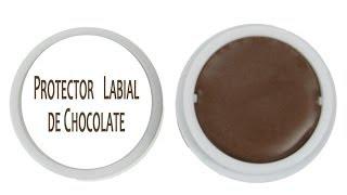 Protector Balsamo Labial de Chocolate Natural y Economico