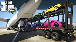getlinkyoutube.com-LOADING & HAULING EXOTIC CARS IN A CARGO PLANE! (GTA 5 PC Mods)