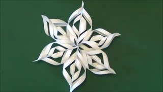 "getlinkyoutube.com-「雪の結晶」折り紙クラフト""Snowy crystal"" origami craft"