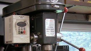 getlinkyoutube.com-VFD Drive Drill Press Lathe & Mill  (Variable Speed) DIY