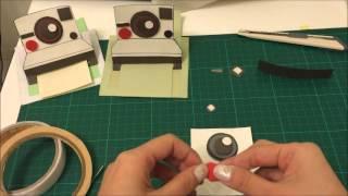 Polaroid Instant Camera card Tutorial/拍立得相機手工卡片教學_爆炸卡機關|Nancy今今♡