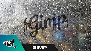 GIMP for Beginners: Foggy Window Text Tutorial