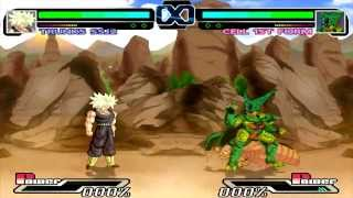 getlinkyoutube.com-Dragon Ball Heroes MUGEN Trunks Super Saiyan 2 VS Cell 1st Form