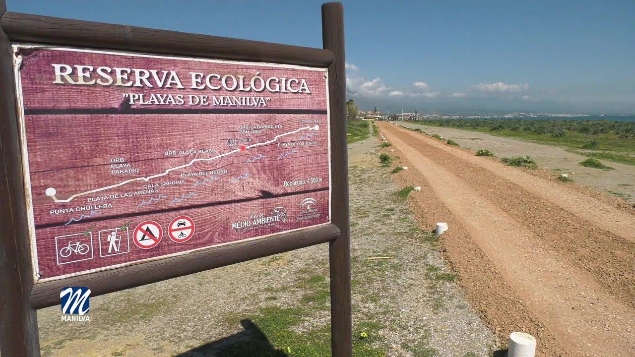 Medioambiente repara la Senda Litoral en la zona de la Reserva Ecológica