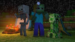 getlinkyoutube.com-Minecraft Escola Monstro #39 - Acampamento de Monstros !!  Monster School