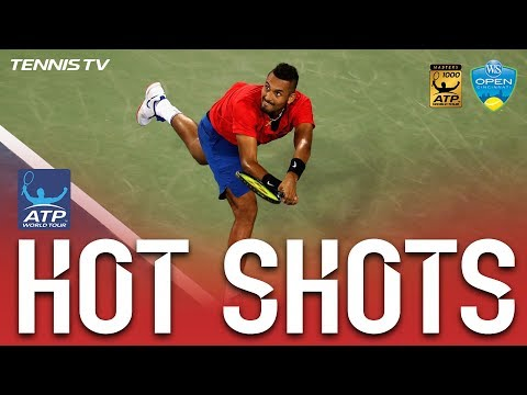Kyrgios Hits Running Return Hot Shot Cincinnati 2017