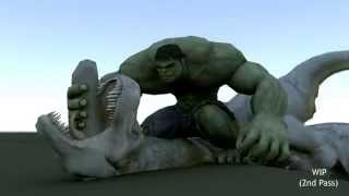 getlinkyoutube.com-Hulk vs T-rex - Creature Seq WIP HD