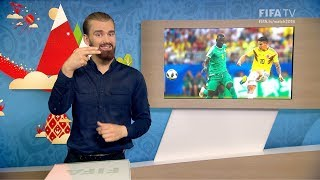 FIFA WC 2018 - SEN vs. COL – for Deaf and Hard of Hearing - International Sign