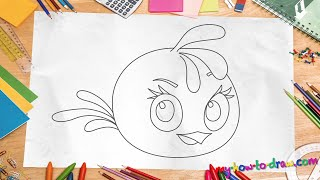 getlinkyoutube.com-How to draw Angry Birds Stella - Easy step-by-step drawing lessons for kids
