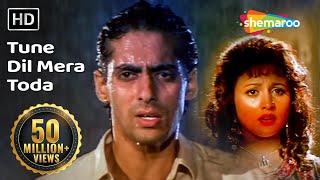 Tune Dil Mera Toda Kahi (HD) | Sanam Bewafa Songs | Salman Khan | Chandni | Lata Mangeshkar