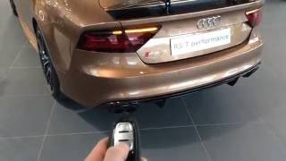 getlinkyoutube.com-Audi RS7 Performance Bronze Audi Exclusive: In Depth, LED Lights, Interior and more