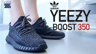 "getlinkyoutube.com-Adidas Yeezy Boost 350 ""Pirate Black"" - On-Feet Review"