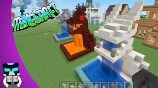 getlinkyoutube.com-Minecraft Fuente Dragon Agua Lava Tutorial Decoracion
