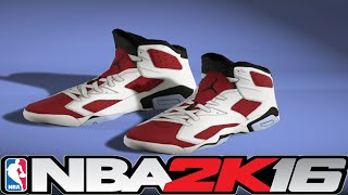 getlinkyoutube.com-NBA 2K16 Shoe Creator Jordan 6 Carmine ⋆#NBA2K16⋆