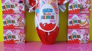 getlinkyoutube.com-Kinder Surprise Eggs Winx Club