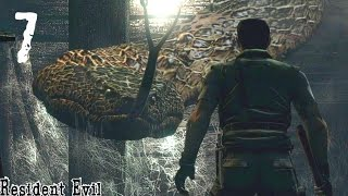 getlinkyoutube.com-SNAKE BOSS BATTLE?! | Resident Evil [Remastered]: Gameplay - Part 7