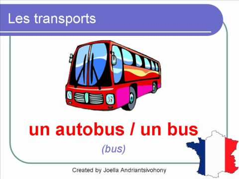 French Lesson 36 - Les transports vocabulaire (Transport transportation travel vocabulary)