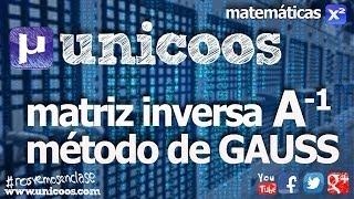 Imagen en miniatura para Matriz inversa por Gauss