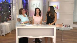 getlinkyoutube.com-Laura Geller Baked Gelato Vivid Swirl Illuminator with Gabrielle Kerr