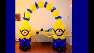 Como fazer uma decoração escultura com balões do tema do filme Meu Malvado Favorito Minions