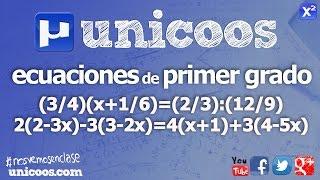 Imagen en miniatura para Ecuaciones de primer grado