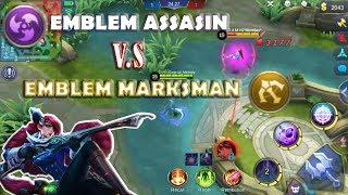 Emblem Assasin vs Emblem Marksman Mobile legends