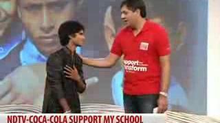 Teri Deewani  || Salman Ali With Sachin Tendulkar ||  NDTV Live Show ||.....