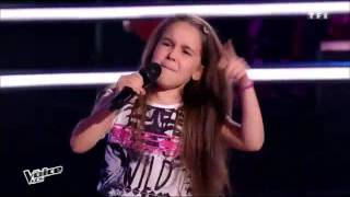 getlinkyoutube.com-The Voice kids Battle : Manuela – Steven – Laure « Papaoutai » ( stromae )