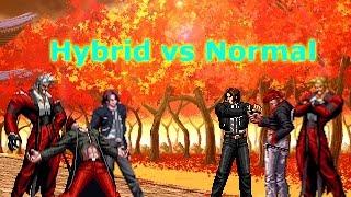 getlinkyoutube.com-[KOF Mugen] Hybrid vs Normal (하이브리드 버전 vs 노멀버전)