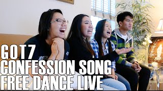 GOT7- Confession Song Free Dance Live Video (Reaction Video)