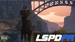 getlinkyoutube.com-GTA 5- LSPDFR #3- Patrolling on a HORSE- WEiRD PATROL!!!!!
