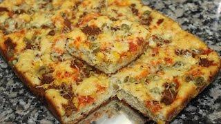getlinkyoutube.com-Pizza Cake --- بيتزا كيك سهلة و لذيذة