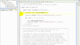F1L7@14 Increment java   final instance variable in a class