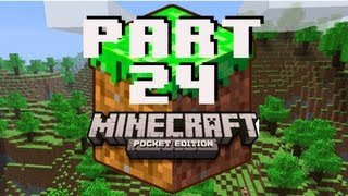 Let's Play Minecraft Pocket Edition Ep 24 - Fountain in the Quad
