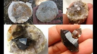 getlinkyoutube.com-How to find Geodes - Smoky Quartz Crystals | Liz Kreate