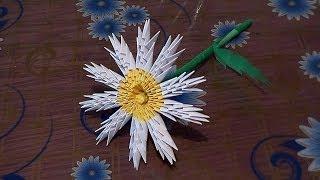 getlinkyoutube.com-3D origami flower chamomile tutorial instruction