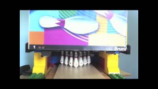 Lego technic bowling pinsetter V2 test