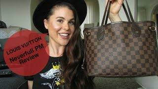 getlinkyoutube.com-Louis Vuitton Neverfull PM Review!!